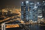 Aerial view of Marina Bay Financial Centre, Singapore, at night - 20121010.jpg