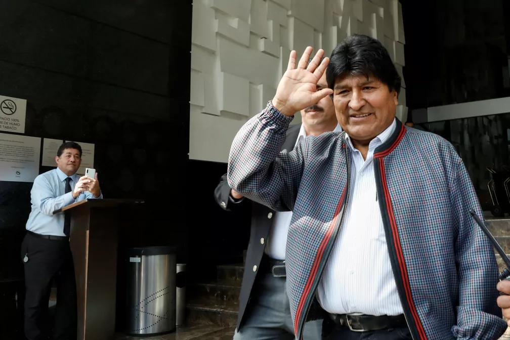 Evo Morales antes de entrevista coletiva na Cidade do México, em 20 de novembro de 2019 — Foto: Carlos Jasso/Reuters