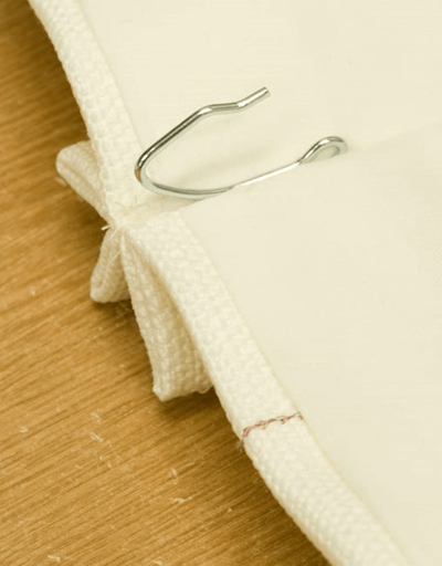 Picture of inserted pinch pleat hook