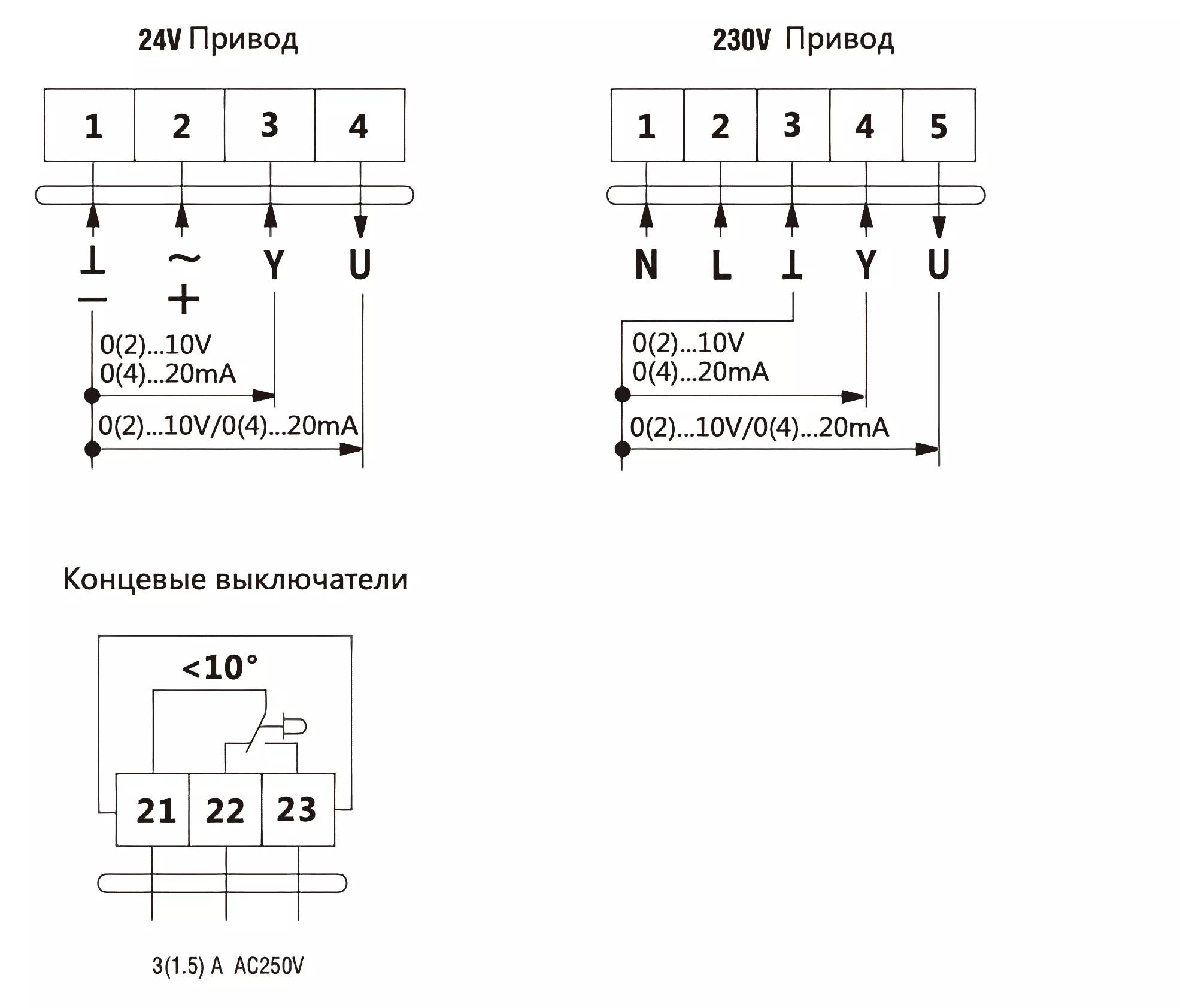 схема подключения da2mu24-a