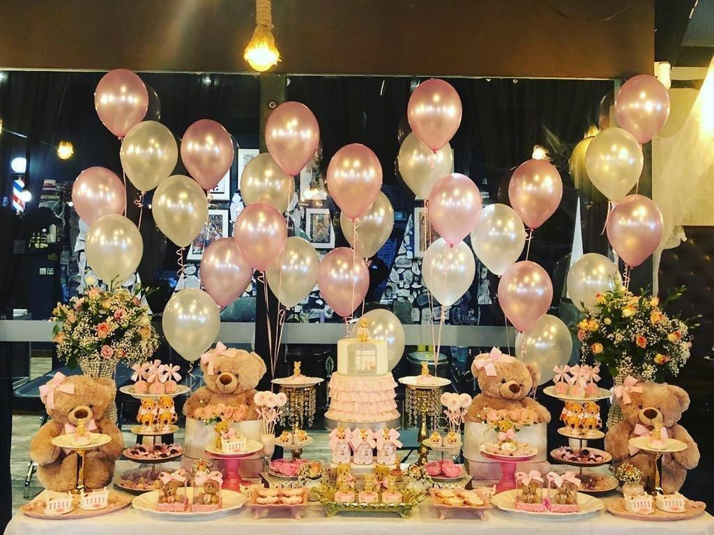 Decoração de festa infantil tema Baby Dior