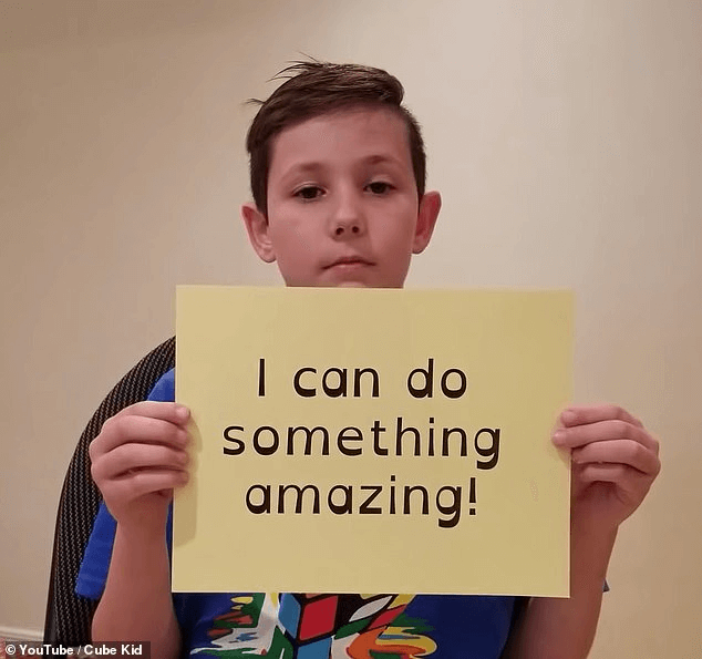 His superpower: The video started with Benjamin first stating he had dyslexia