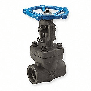 Forged valve with socket connection