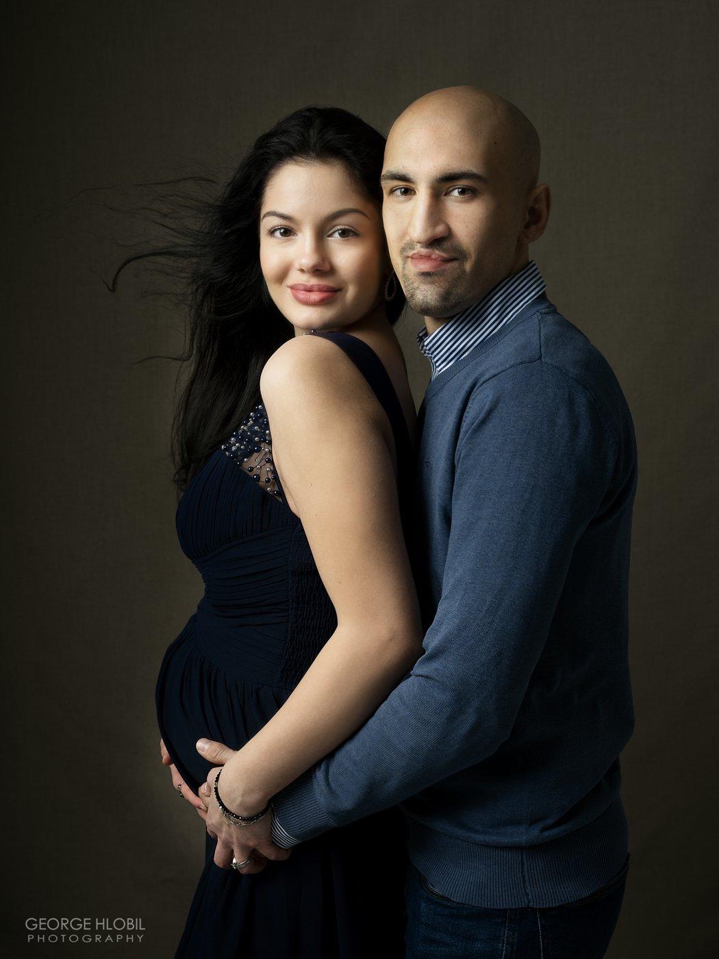 Těhotenské focení Praha - Portrétní fotografie těhotenství