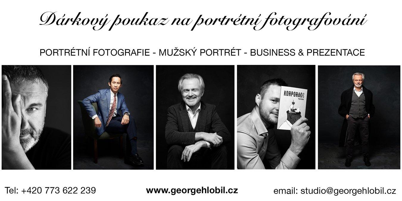 Dárkový poukaz na portrétní focení Praha - Dárek pro muže - Dárkový poukaz na focení - Portrétní fotografie Praha