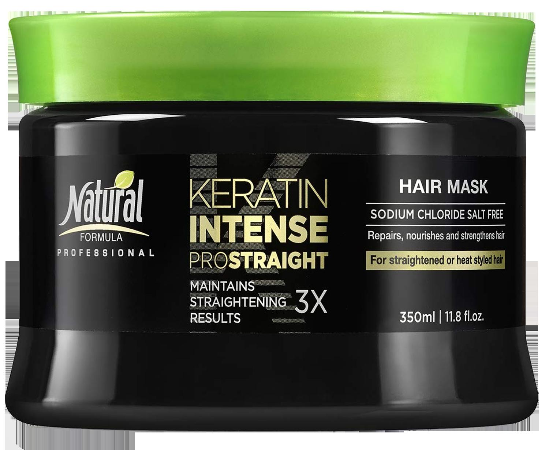 Natural Formula Keratin Intense Repair Hair Mask – Keratin Infused Straightening Mask