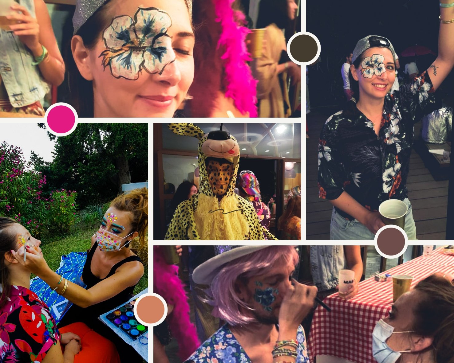 Maquillage évènement déguisé festival réalisée par une maquilleuse professionnel à Montpellier