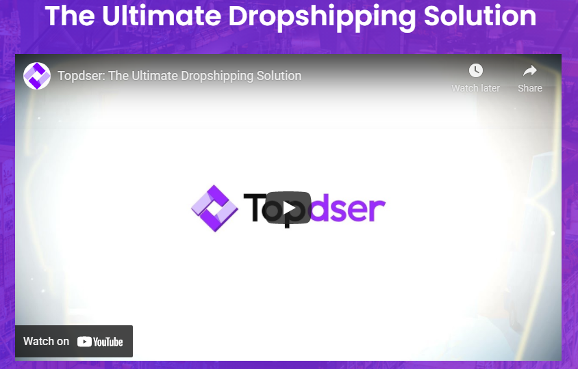 Topdser, an ultimate dropshipping company, is the bridge connecting wholesale warehouses and manufacturers to small retailers