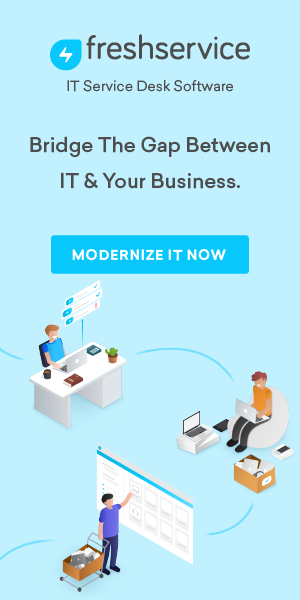 Freshservice is a cloud-based service desk and IT service management (ITSM) solution that  is designed, using ITIL best practice, to help IT organizations to focus on what's most important – exceptional service delivery and customer satisfaction