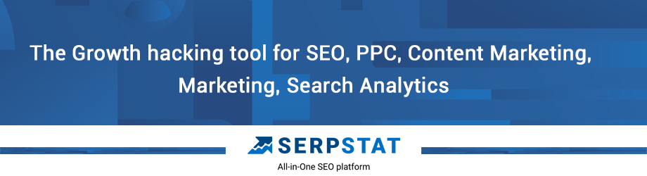 Serpstat is an all-in-one SEO platform that helps market experts analyze competitors, perform keyword research for SEO and ads, track online positions and backlinks of any websites and their online competitors.