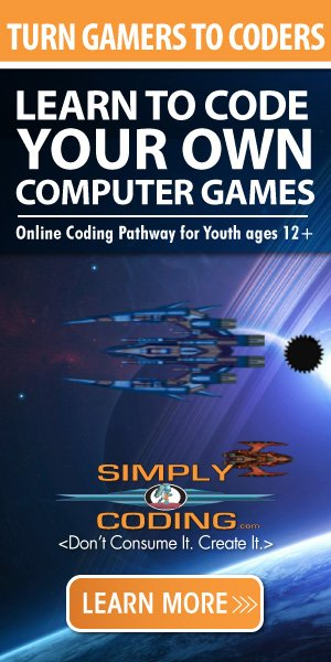 SimplyCoding is a self-paced interactive online curriculum that teach youth how to code their own computer games, websites, and apps through the correct structure and environment.