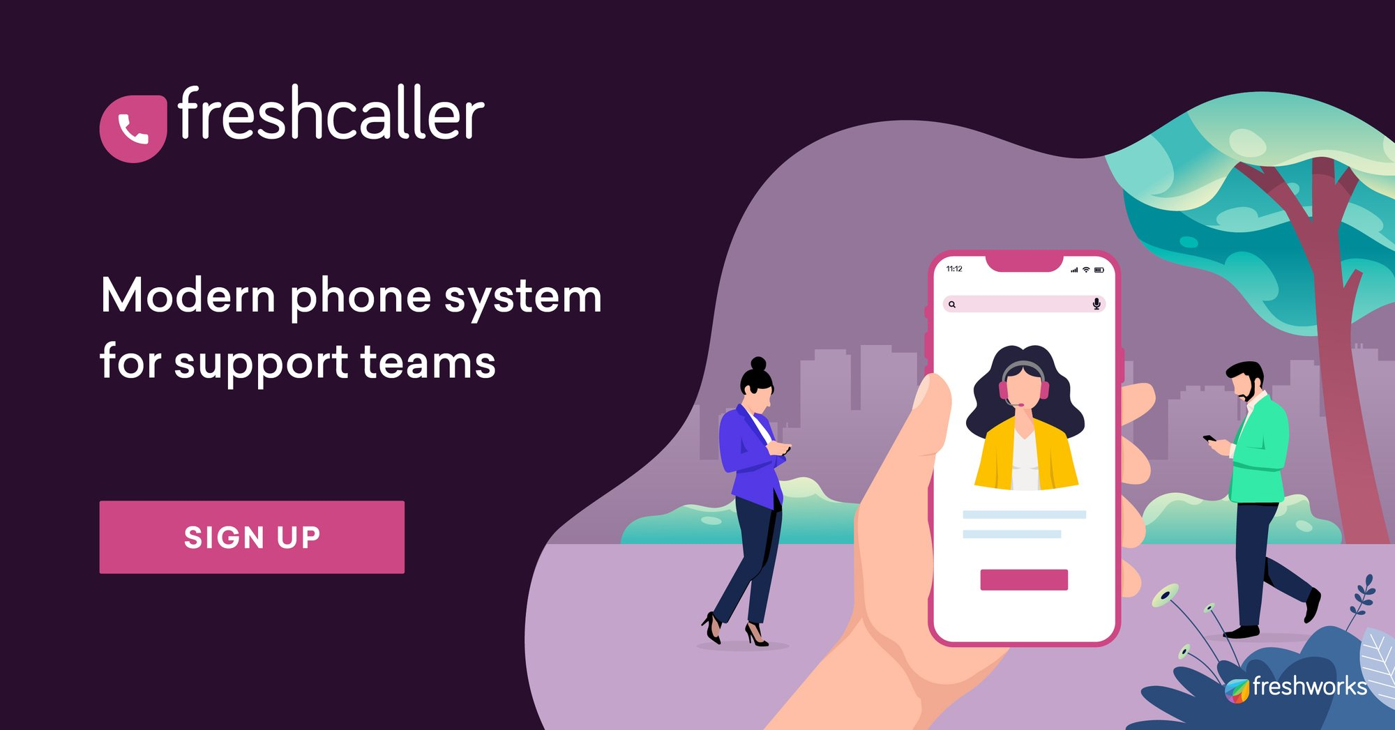 Freshcaller by Freshworks is a truly modern and reliable phone system that is trusted by over 7000+ customers worldwide.