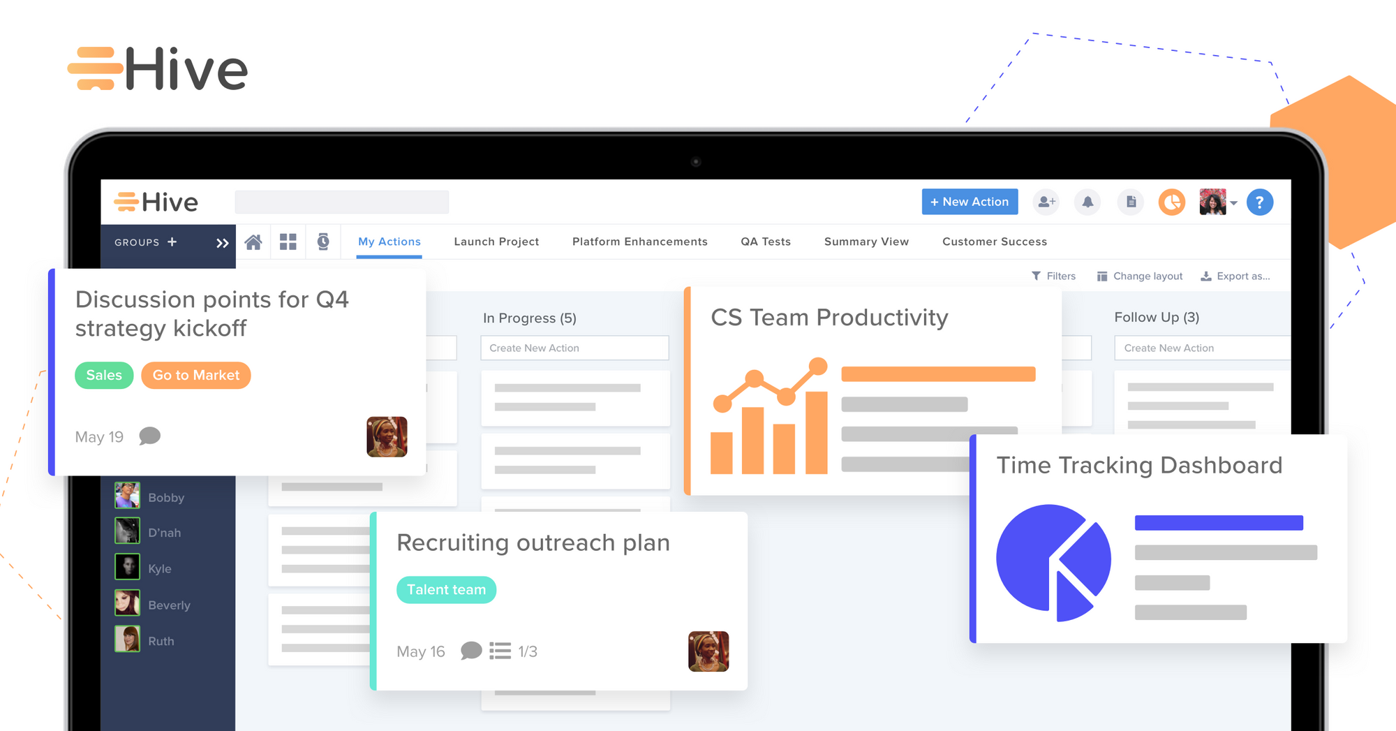Hive is the #1 productivity platform for fast-moving teams, manage projects, track tasks, and collaborate with teams of all sizes.
