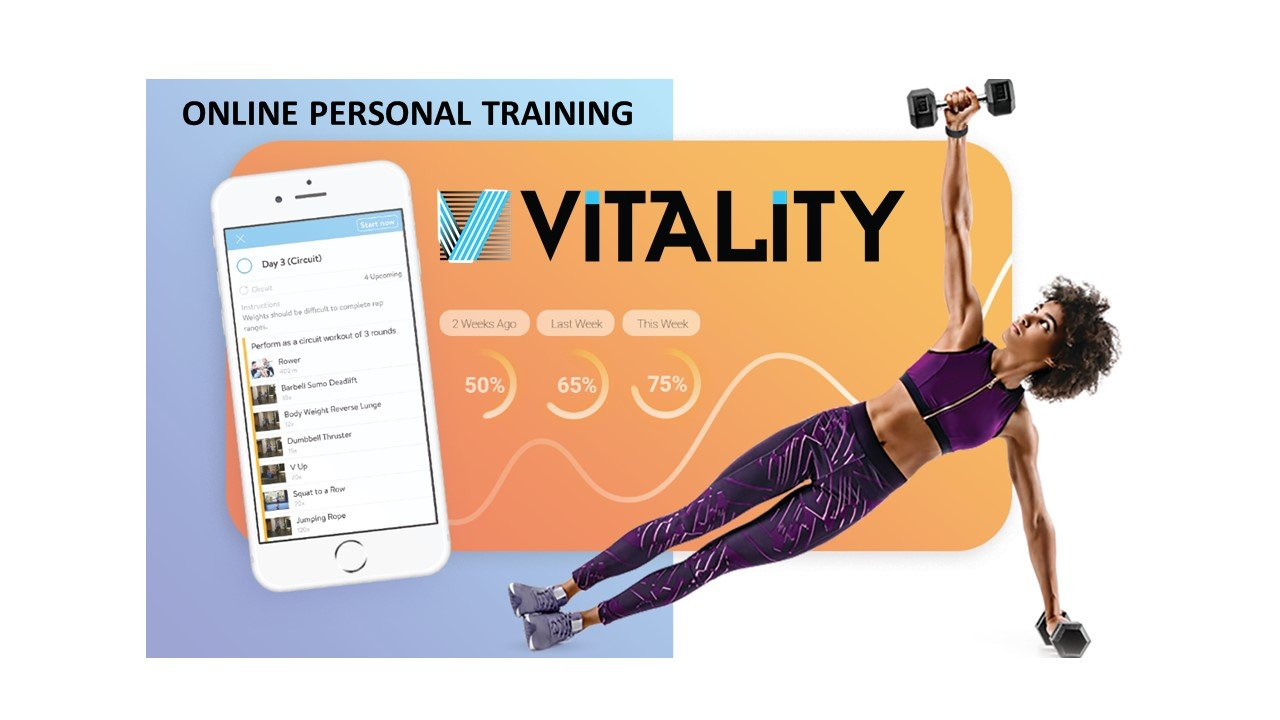 Vitality App is an Online Corporate fitness coaching designed to energize employee health, wellness and Vitality.