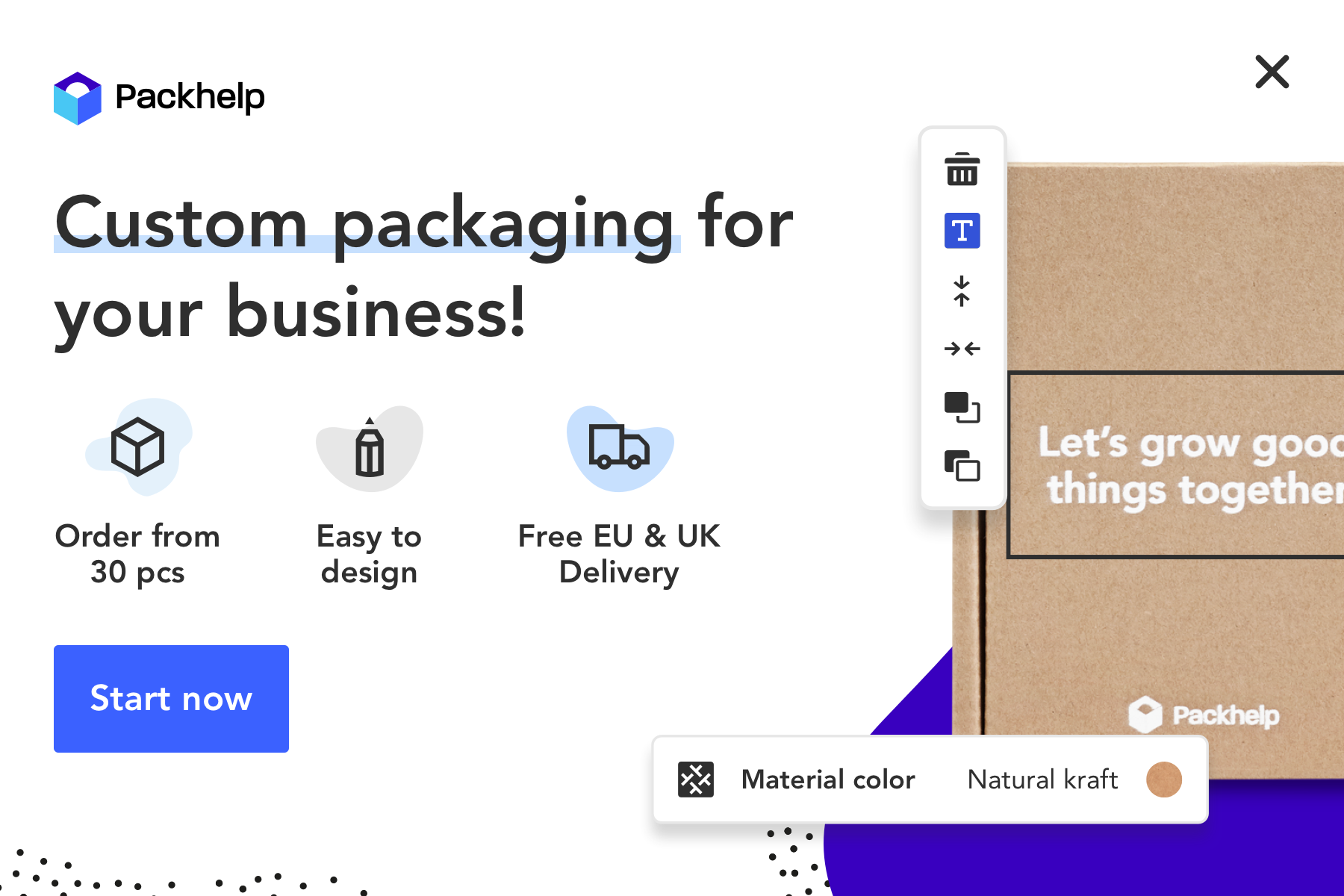 Packhelp is an online marketplace for custom branded packaging. We provide innovative packaging solutions for e-commerce brands, retailers, agencies and enterprises.