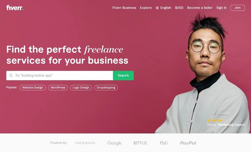 Fiverr is an online marketplace connects businesses with on-demand freelance talent offering digital services in 400+ categories across 8 domains.