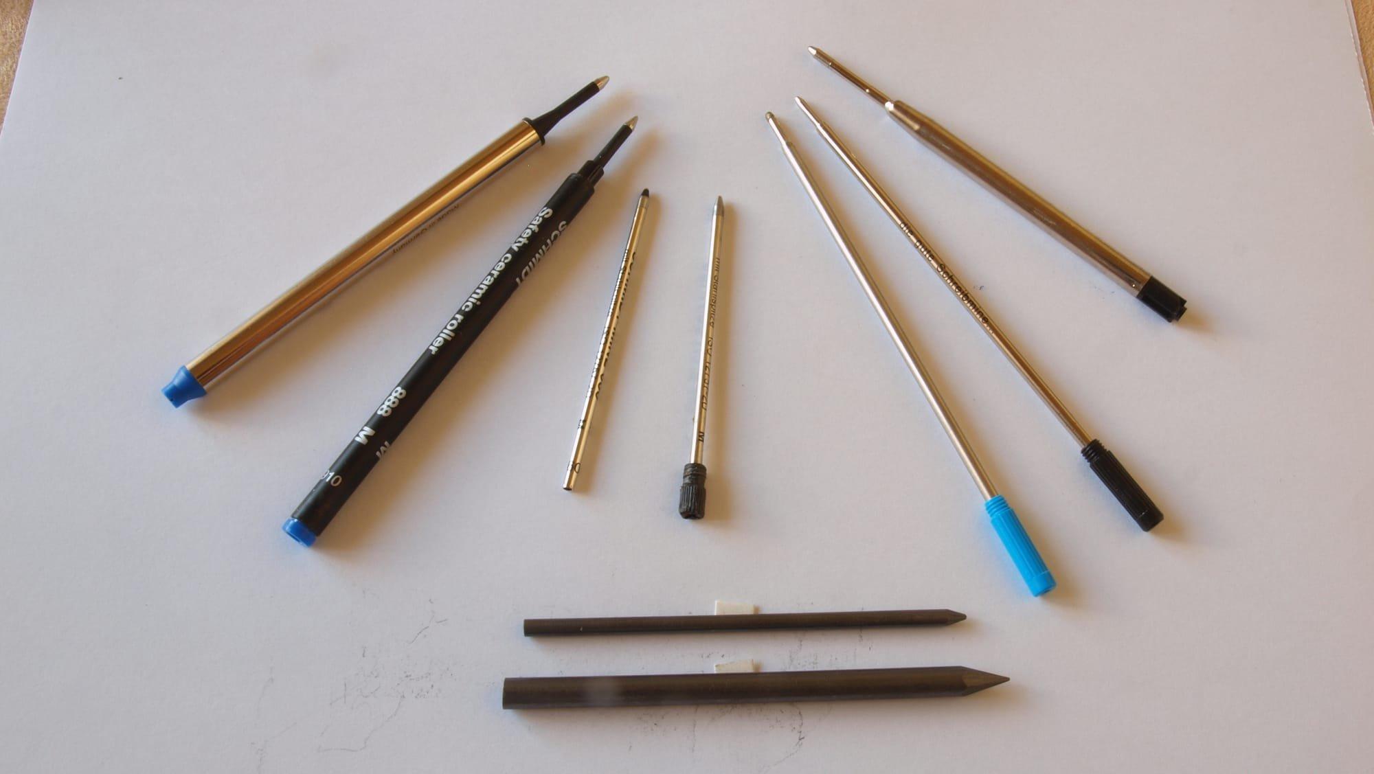 Diverse Kugelschreiber- und Bleistiftminen