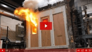 Fire Door Test Courtesy of the British Woodworking Federation