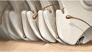 Testina di epilazione con esclusivo materiale in ceramica per migliore presa