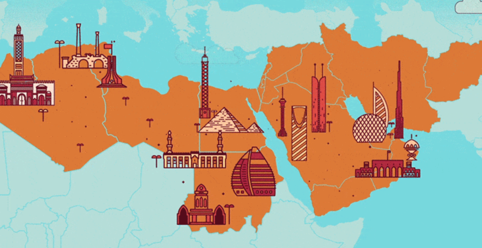 Image of the GCC countries