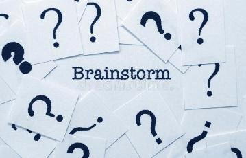 Brainstorm concept. Close up of Brainstorm concept royalty free stock photo