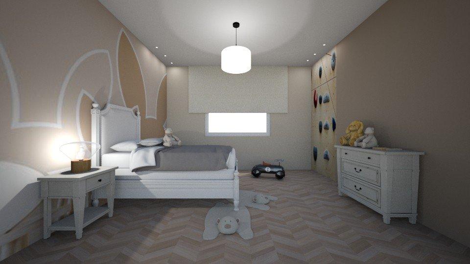 עיצוב חדר ילדים עם קיר טיפוס