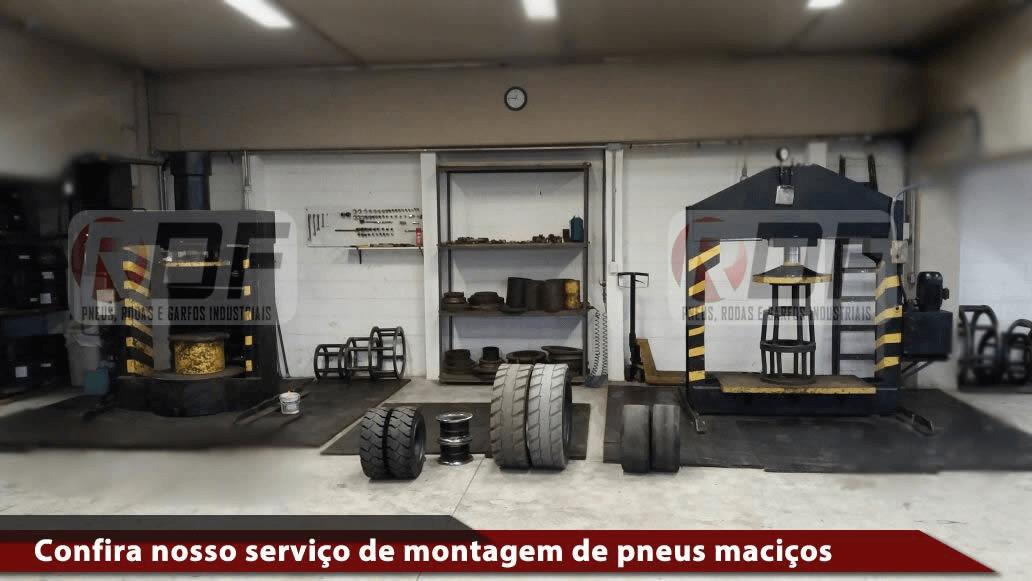 confira nosso serviço de montagem de pneus maciços