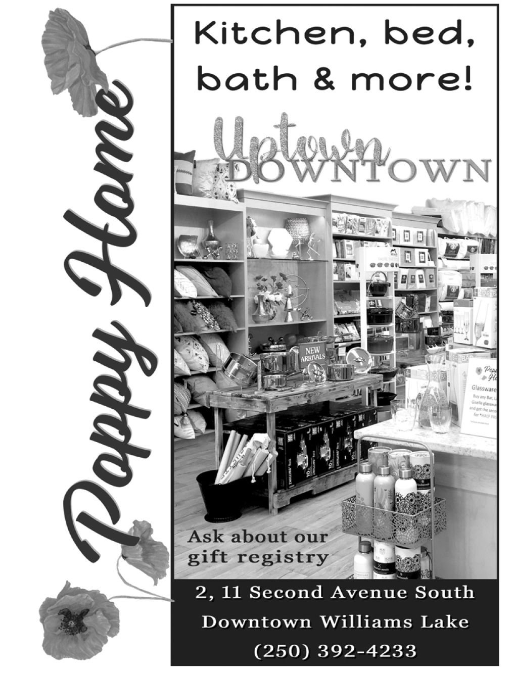 Please take as moment to visit our wonderful sponsors, Poppy Home Store.