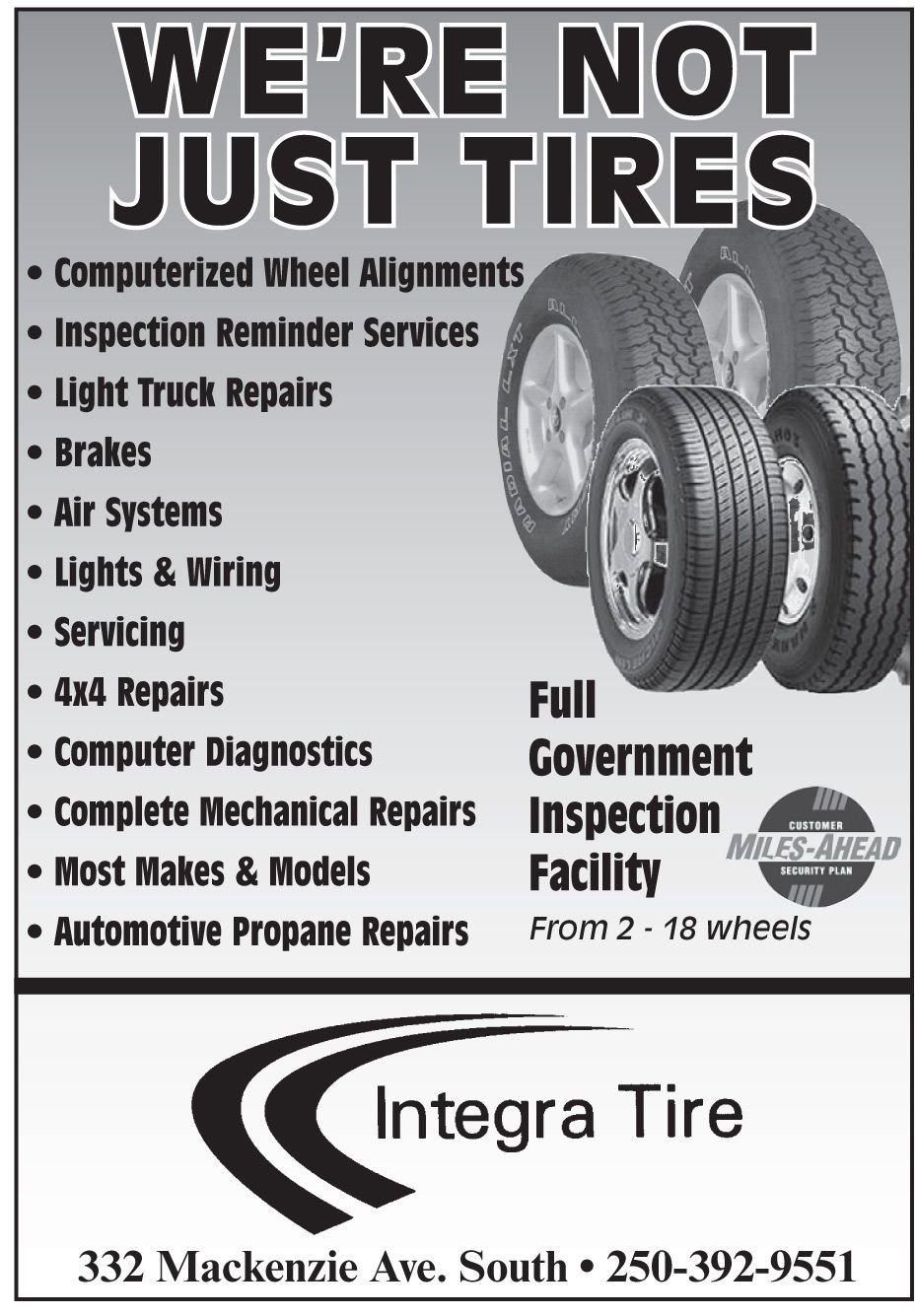 Please take a moment to visit our wonderful sponsor, Integra Tire (Williams Lake)