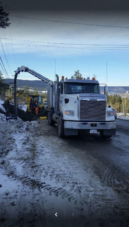 Hydro vac excavation and line locating, Williams Lake, BC.