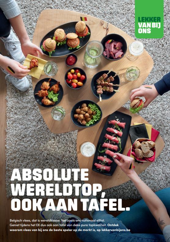 Affiche vlees EK-Voetbal