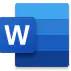 Microsoft Word logo.