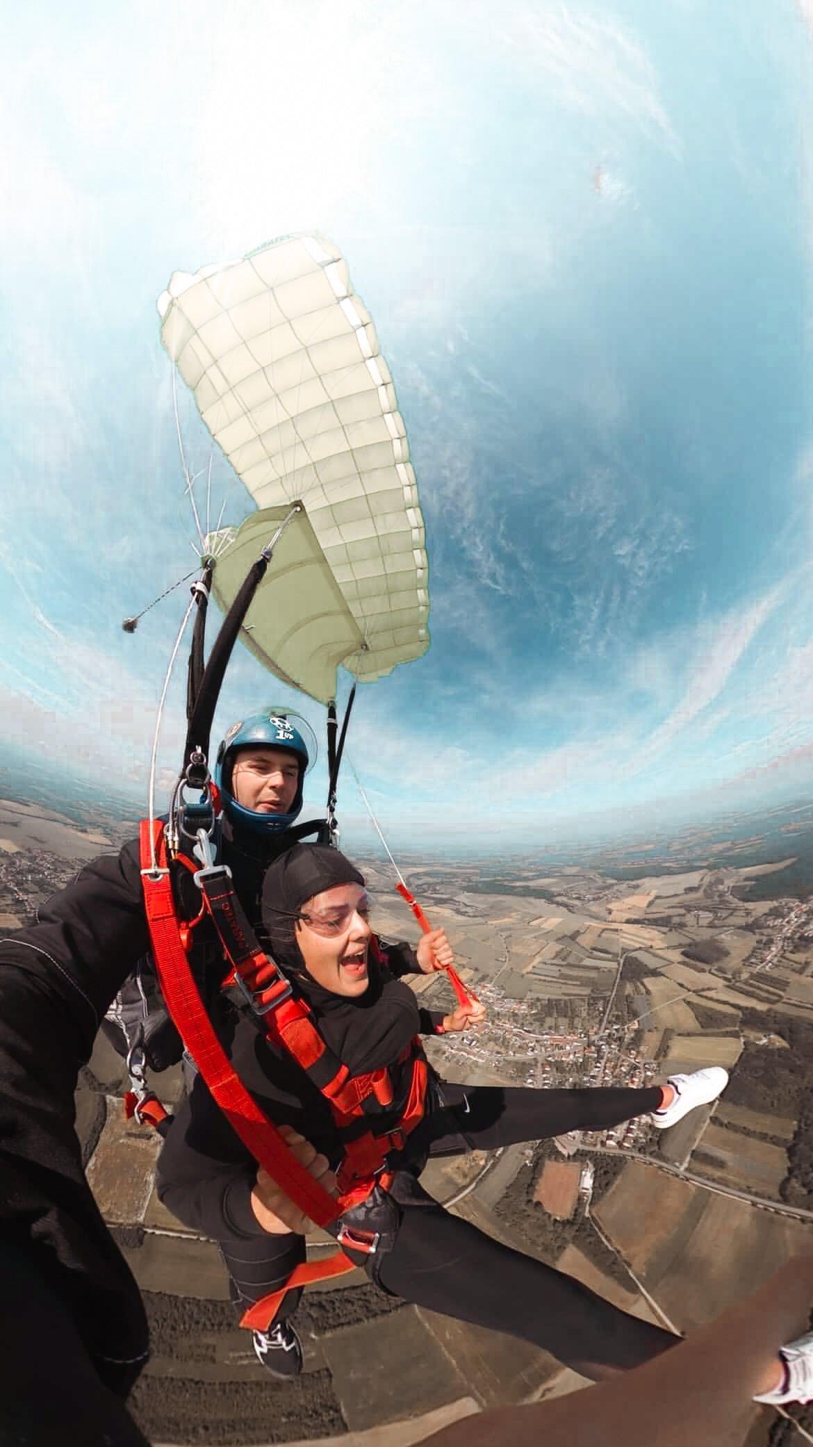 paretec parachute jump, wingman mini, paratec emergency parachute, juliet sierra, flyhy