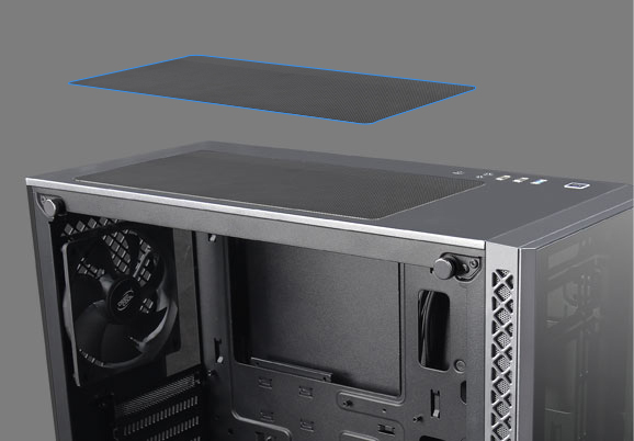 An image shows Magnetic dust-proof net on top of MATREXX 50 ADD-RGB 4F Case
