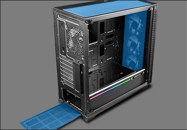 Removable top and bottom dust filters on the MATREXX 70 case