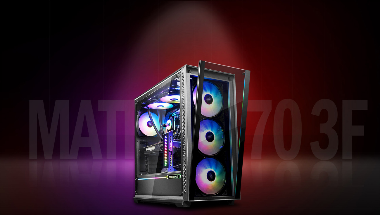 MATREXX 70 3F fully loaded with RGB-lit components, facing slightly to the right