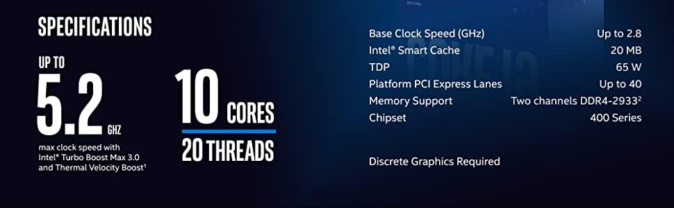 10th Gen Intel Core i9-10900F Desktop Processor