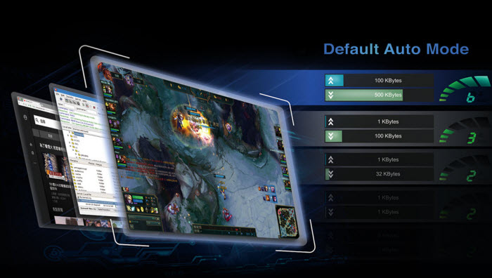 several game screenshots with optimization by Realtek 8118 Gaming LAN