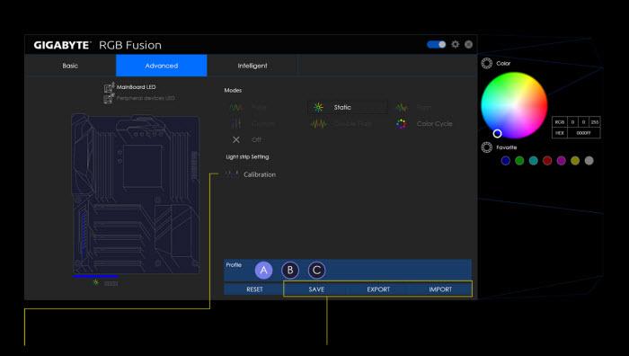 screenshot of RGB Fusion