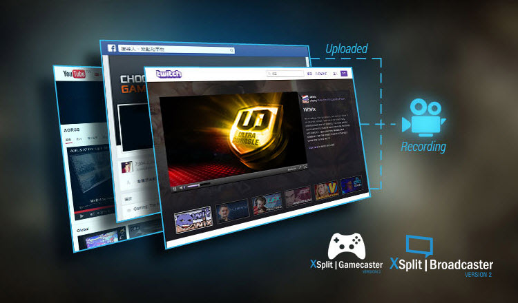 screenshot of XSplit Gamecaster and Broadcaster