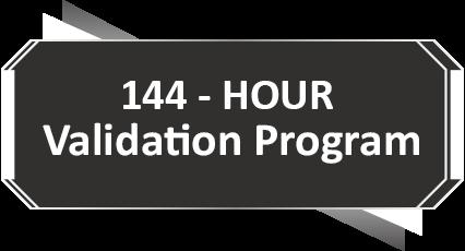 144 hour validation