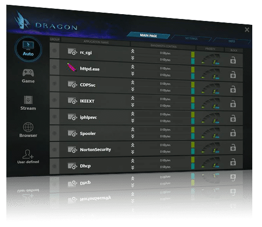 screenshot of Dragon2.5GLAN-UI