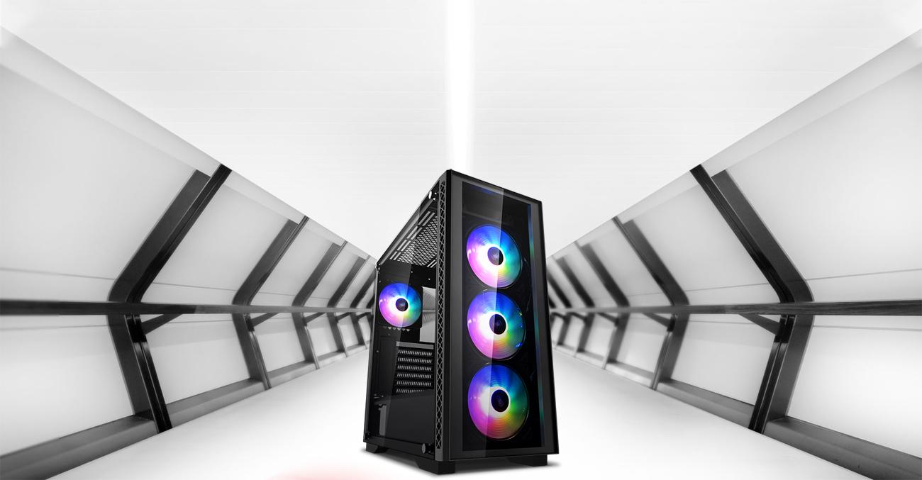 DEEPCOOL MATREXX 50 ADD-RGB 4F Case with Four RGB-Lit Fans