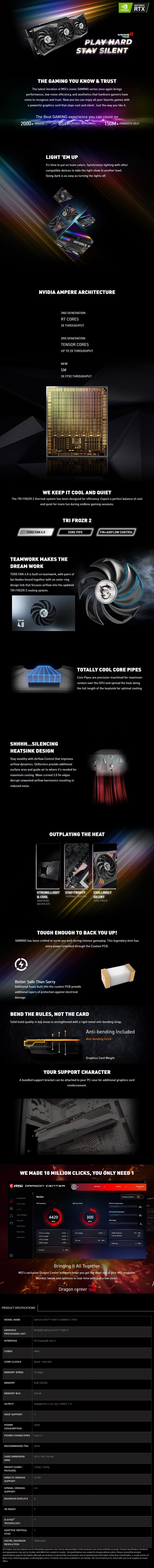 MSI GeForce RTX 3060 Ti GAMING X TRIO 8GB Video Card - Overview 1
