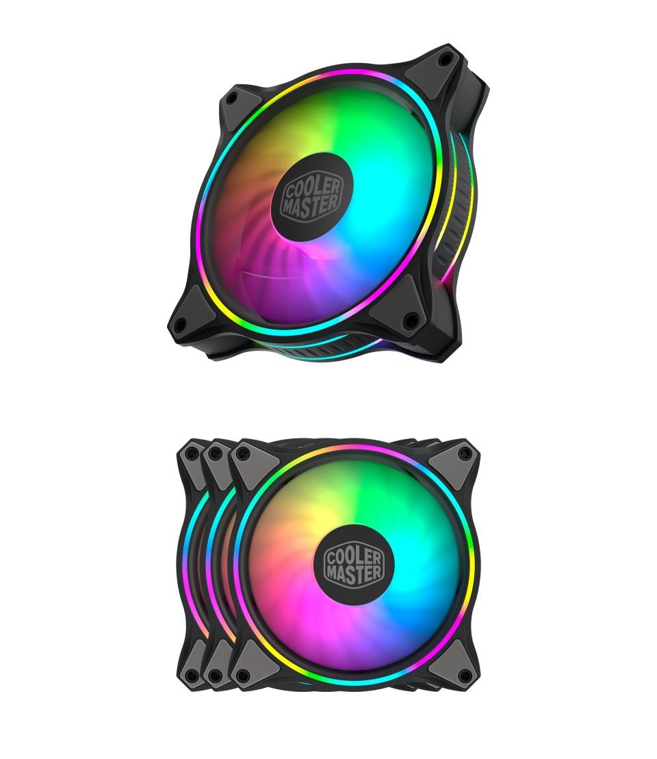 Cooler Master MasterFan MF120 Halo ARGB 120mm 3 Fan Kit product