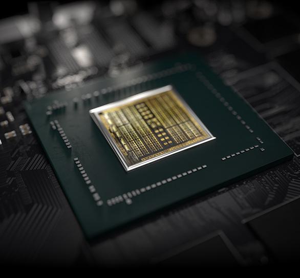 Bottom of the NVIDIA TURING graphics processor