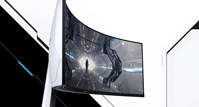 Side view of the Samsung Odyssey G9