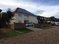 Roof Mounted Solar PV Panel Installation