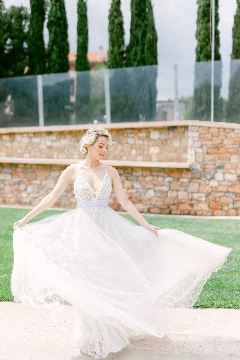 FS Events Styled Shoot - Wedding Gown by Konstantina Vikatou Bridal Designer