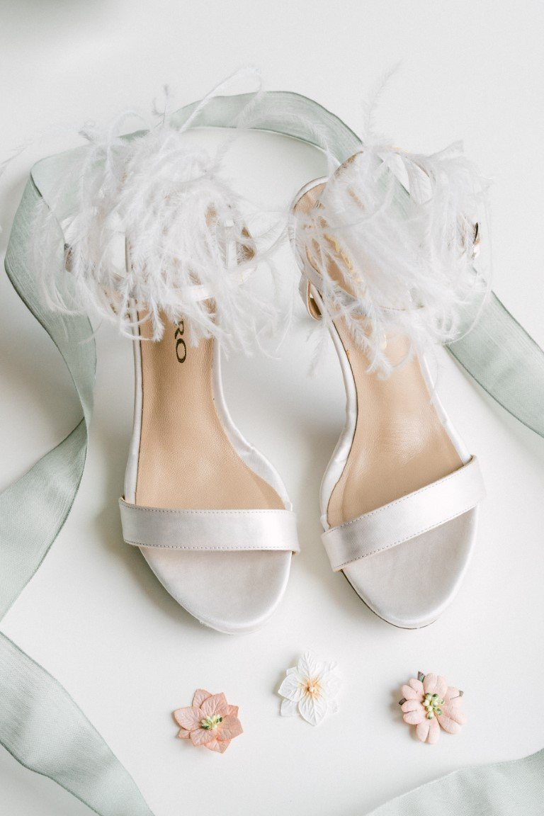FS Events Styled Shoot - White Bridal shoes by Bilero
